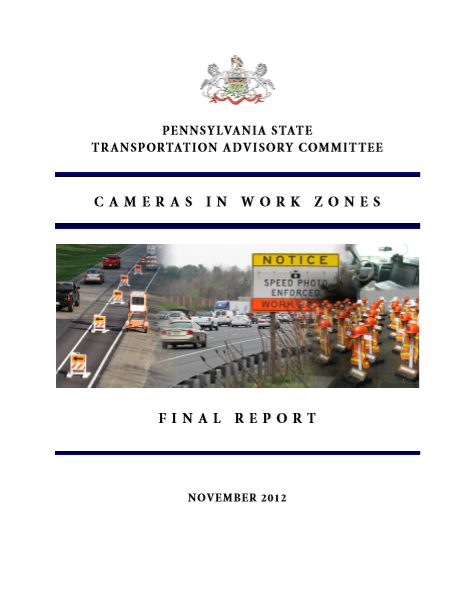 Cameras in Work Zones cover