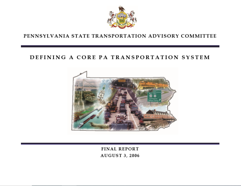 Defining a Core Pennsylvania Transportation System cover