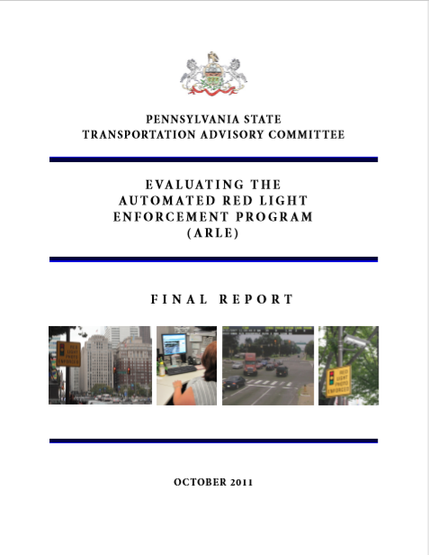 Evaluating the Automated Red Light Enforcement Program (ARLE) cover