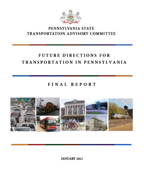 Future Directions for Transportation in Pennsylvania cover