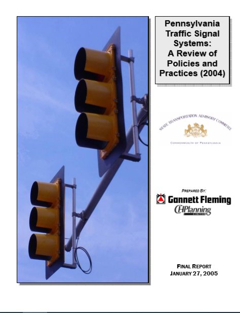 Pennsylvania Traffic Signal System - A Review of Policies and Practices cover