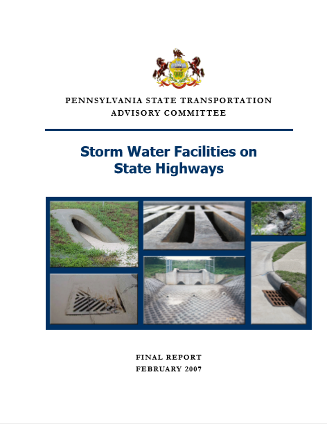 Storm Water Facilities on State Highways cover