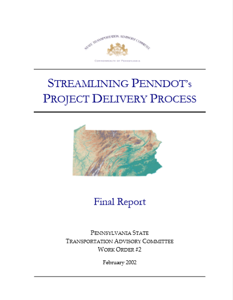 Streamlining PennDOT's Project Delivery Process cover