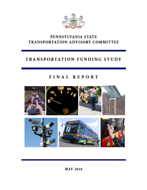 Transportation Funding Study cover